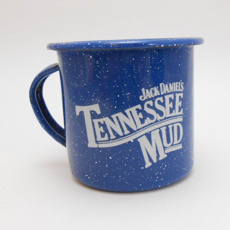 ジャックダニエル Jack Daniel's Tennessee Mud ブルーホーロー マグ カップ B【画像2】