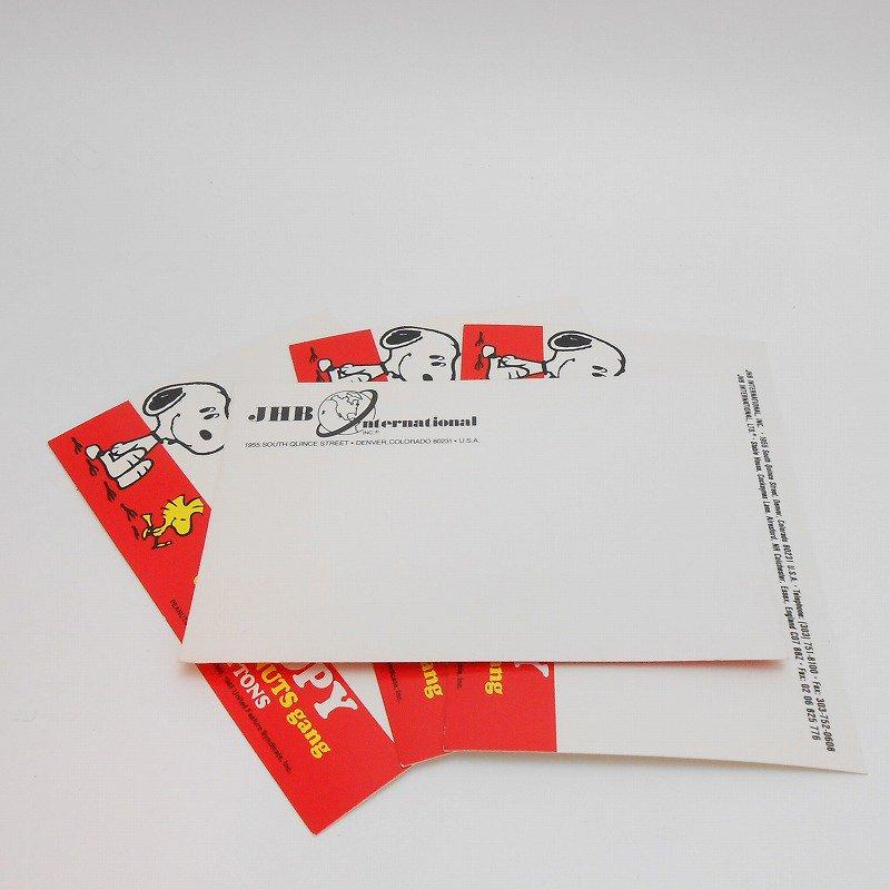 ヴィンテージ・缶バッチ用台紙ハガキ・スヌーピー&ウッドストック【画像4】