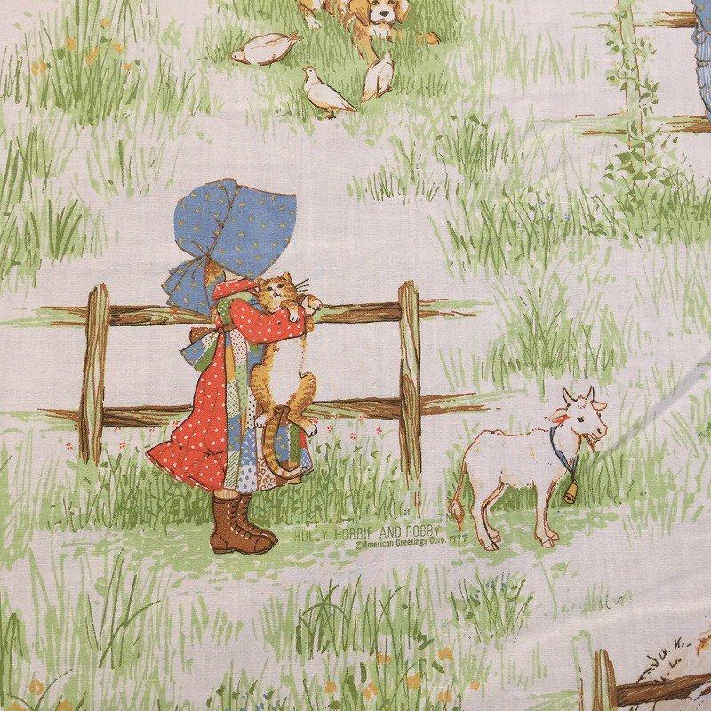 ヴィンテージキャラクターシーツ・ホーリーホビー・猫と犬・フラット