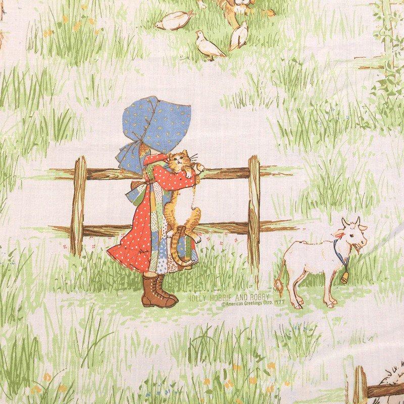 ヴィンテージキャラクターシーツ・ホーリーホビー・猫と犬・フラット【画像2】