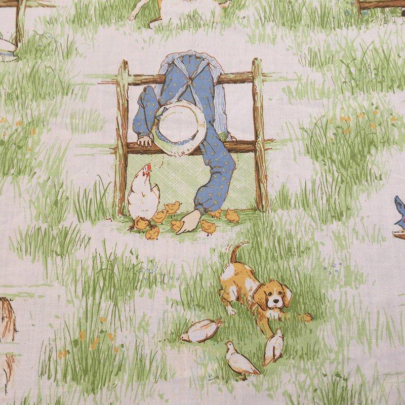 ヴィンテージキャラクターシーツ・ホーリーホビー・猫と犬・フラット【画像3】