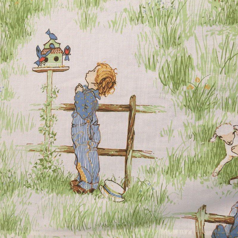 ヴィンテージキャラクターシーツ・ホーリーホビー・猫と犬・フラット【画像5】