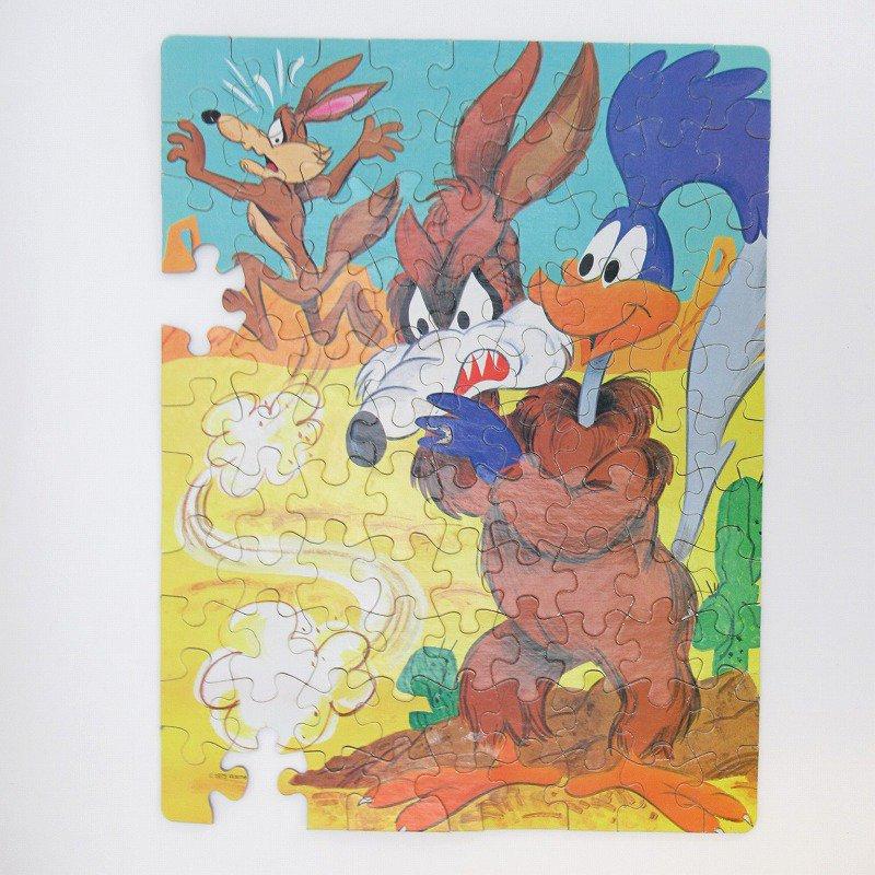 訳あり・1975年・ルーニーチューンズ・ロードランナー・箱付きパズル【画像2】