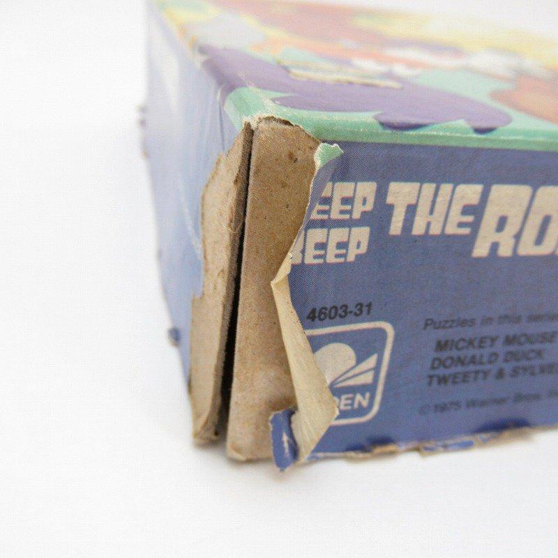 訳あり・1975年・ルーニーチューンズ・ロードランナー・箱付きパズル【画像10】