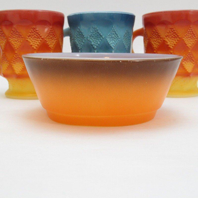 ファイヤーキング・ブラウン&オレンジ・サラダボウル【画像3】