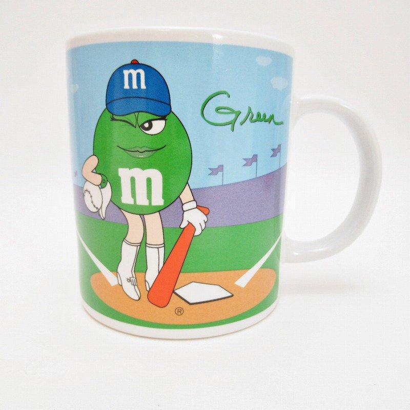 2002年・M&Ms・グリーン&イエロー・スポーツシリーズ・エムアンドエムズ・陶器製マグ【画像2】