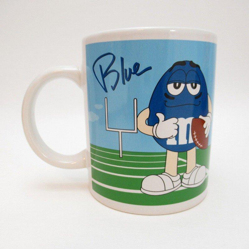 2002年・M&Ms・レッド&ブルー・スポーツシリーズ・エムアンドエムズ・陶器製マグ【画像3】