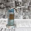 ヴィンテージ・ジャンク雑貨・メタル製・オイル差し・ハンドル付き・ブルーグリーン