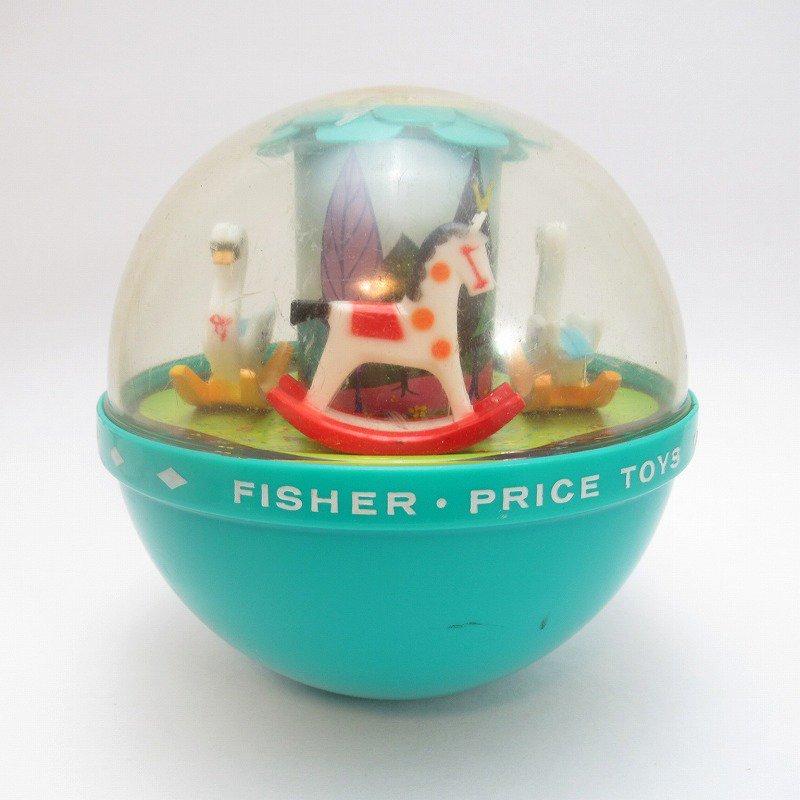 ビンテージトイ「Fisher Price・フィッシャープライス・1966年・Roly Poly Chime Ball」起きあがりこぼし