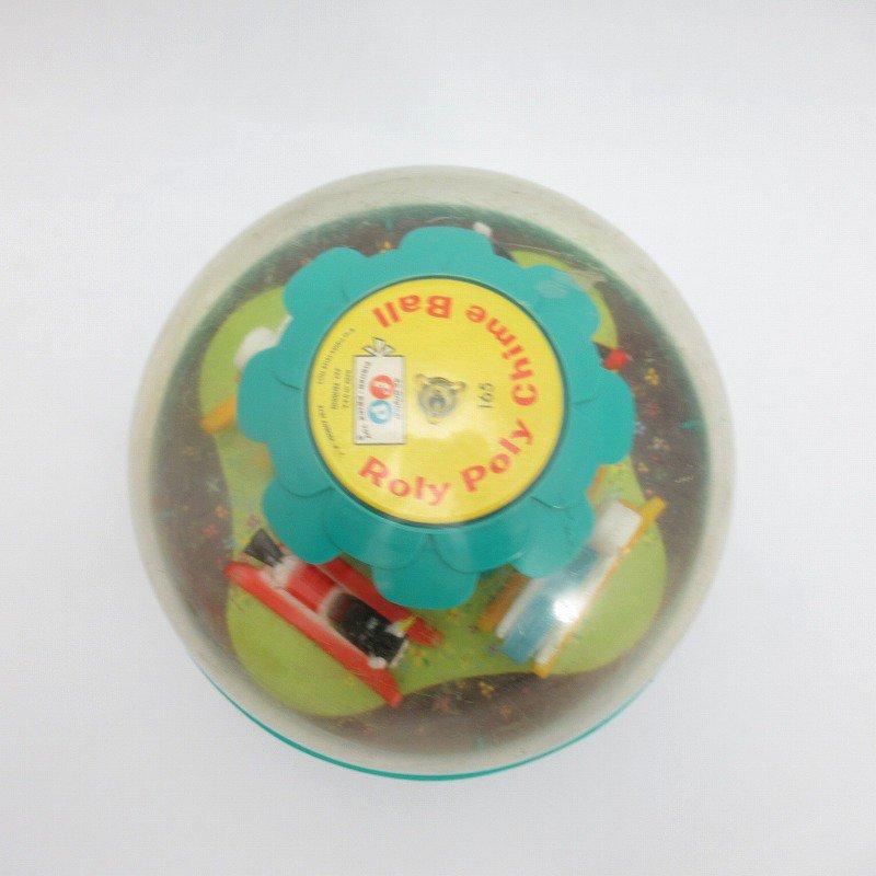 ビンテージトイ「Fisher Price・フィッシャープライス・1966年・Roly Poly Chime Ball」起きあがりこぼし【画像3】