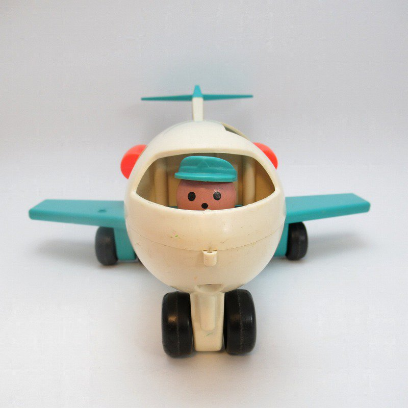 ビンテージトイ・1970年、1972年・フィッシャープライス・プラスチック製・エアプレーン・訳あり・飛行機【画像3】