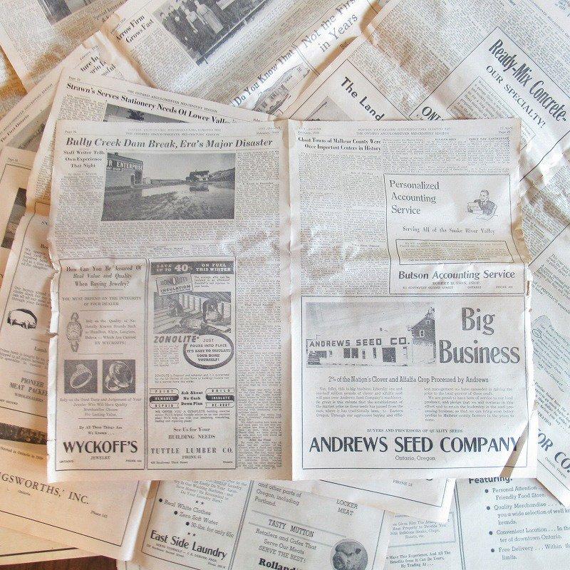 1950年・2月・Ontario Argus-Observer・英字新聞・ページ23,24,25,26