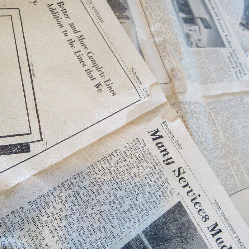 1950年・2月・Ontario Argus-Observer・英字新聞・ページ23,24,25,26【画像4】