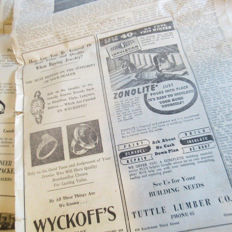 1950年・2月・Ontario Argus-Observer・英字新聞・ページ23,24,25,26【画像6】