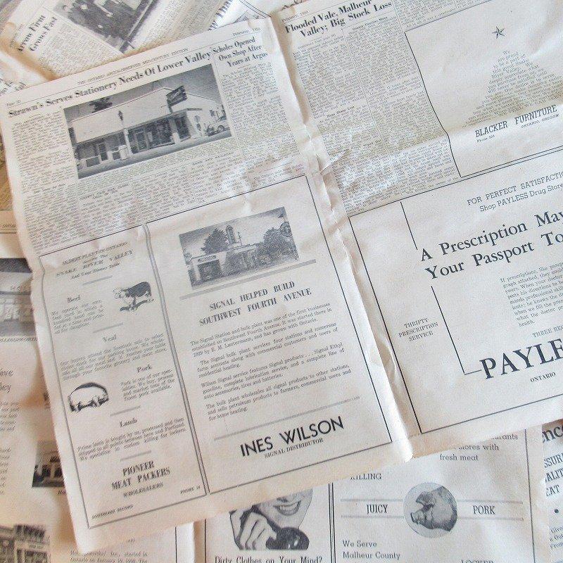 1950年・2月・Ontario Argus-Observer・英字新聞・ページ21,22,27,28