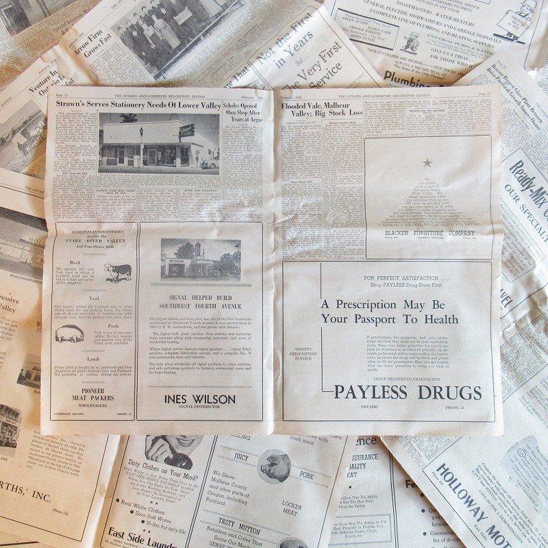 1950年・2月・Ontario Argus-Observer・英字新聞・ページ21,22,27,28【画像2】