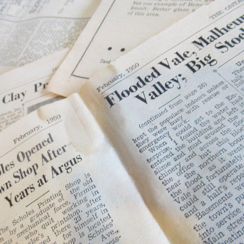 1950年・2月・Ontario Argus-Observer・英字新聞・ページ21,22,27,28【画像3】