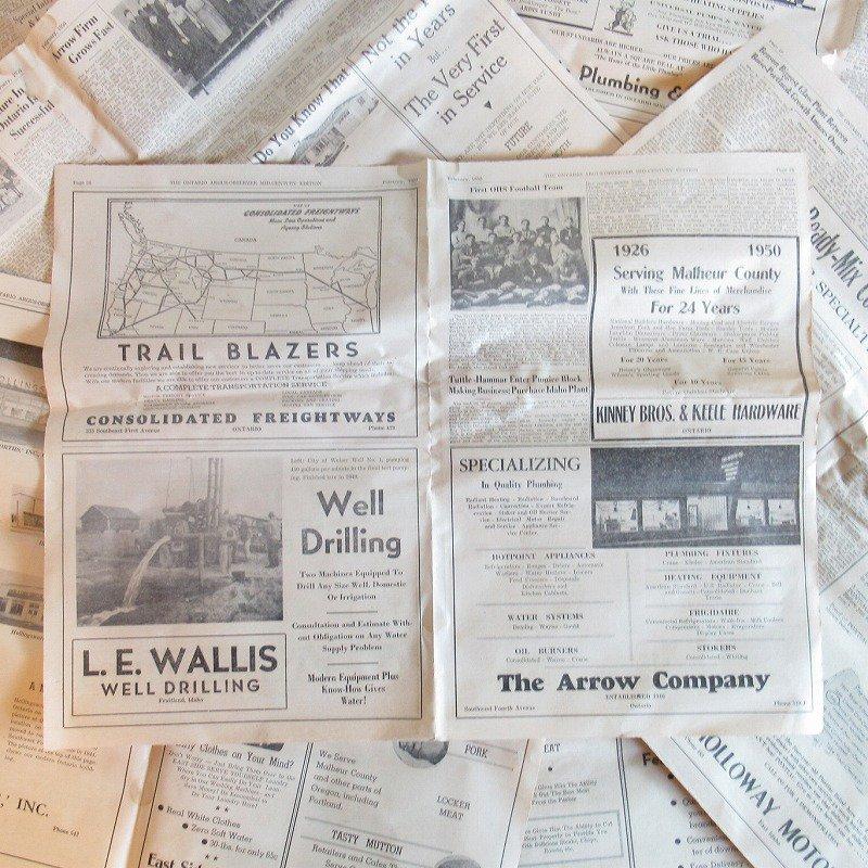 1950年・2月・Ontario Argus-Observer・英字新聞・ページ21,22,27,28【画像5】