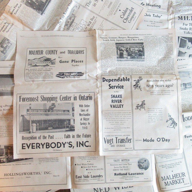 1950年・2月・Ontario Argus-Observer・英字新聞・ページ17,18,31,32【画像2】