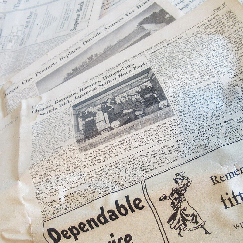 1950年・2月・Ontario Argus-Observer・英字新聞・ページ17,18,31,32【画像3】