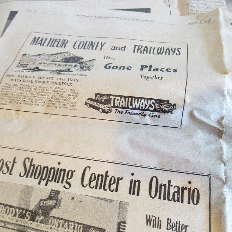 1950年・2月・Ontario Argus-Observer・英字新聞・ページ17,18,31,32【画像5】