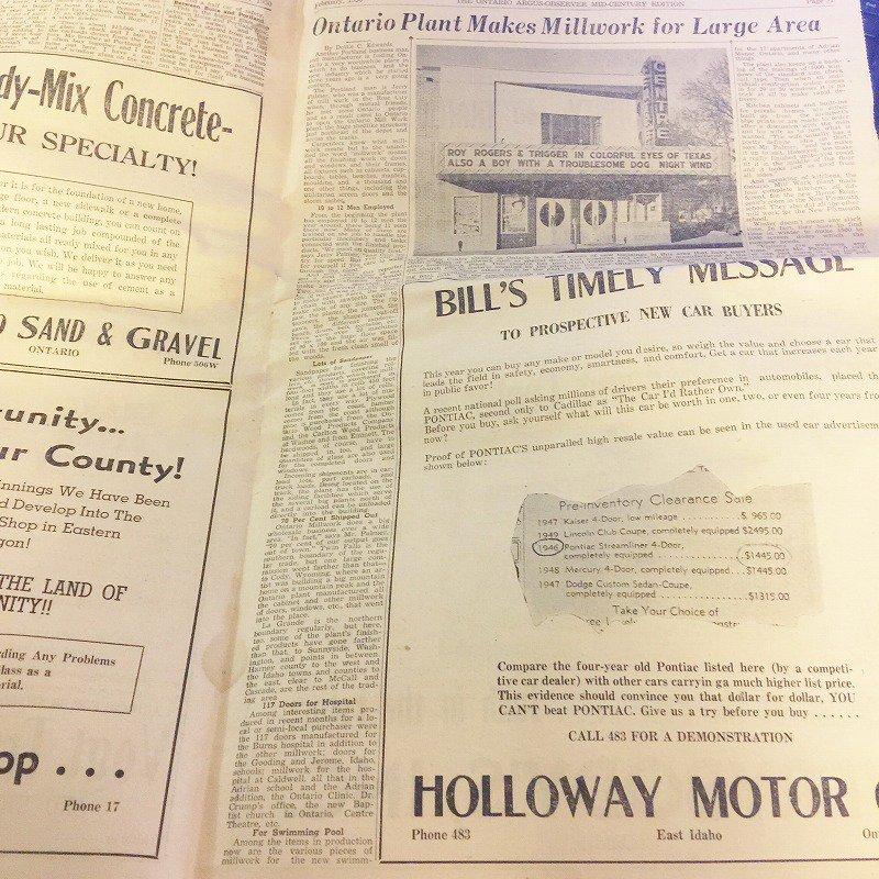 1950年・2月・Ontario Argus-Observer・英字新聞・ページ17,18,31,32【画像6】