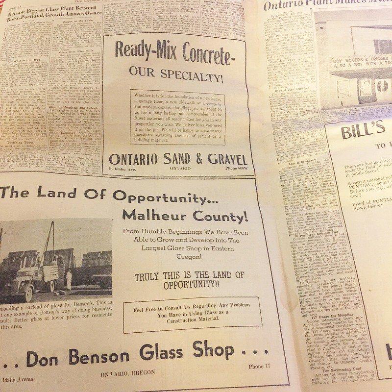 1950年・2月・Ontario Argus-Observer・英字新聞・ページ17,18,31,32【画像7】