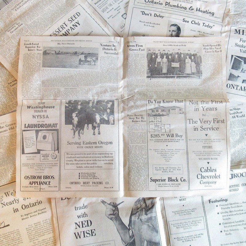1950年・2月・Ontario Argus-Observer・英字新聞・ページ13,14,35,36【画像2】