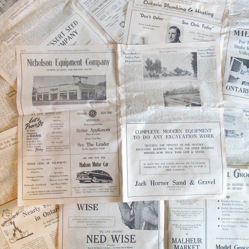 1950年・2月・Ontario Argus-Observer・英字新聞・ページ13,14,35,36【画像4】