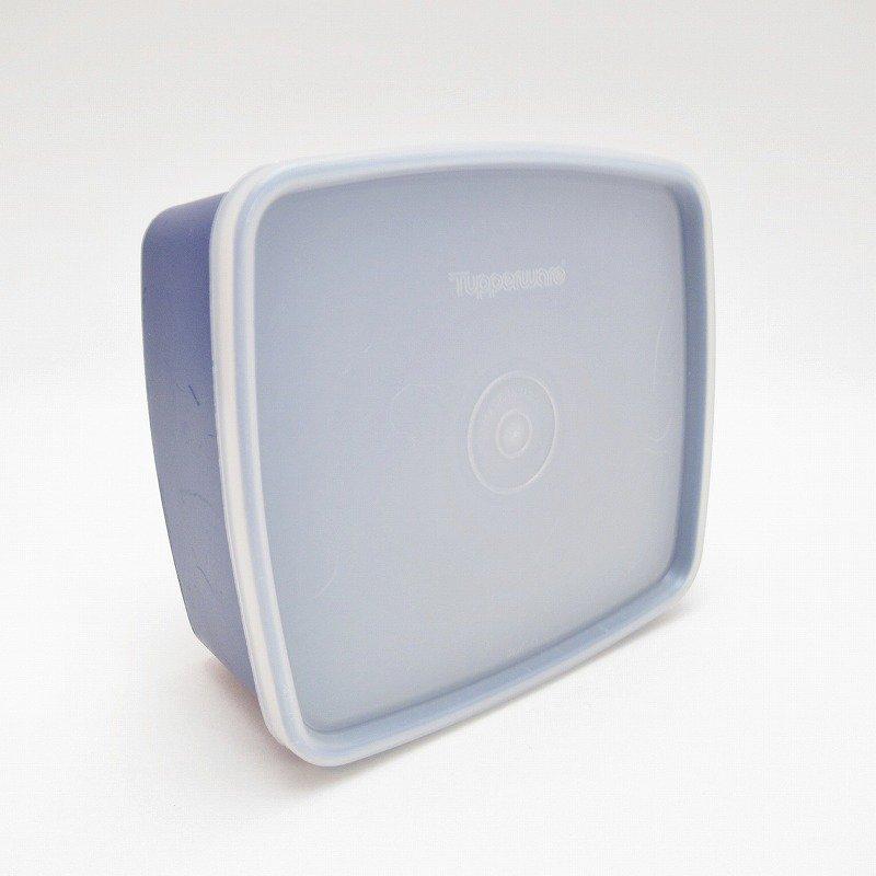 ビンテージ・Tupperware・タッパウェア・ネイビーブルー・長方形