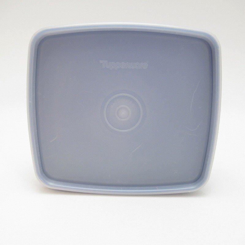 ビンテージ・Tupperware・タッパウェア・ネイビーブルー・長方形【画像2】