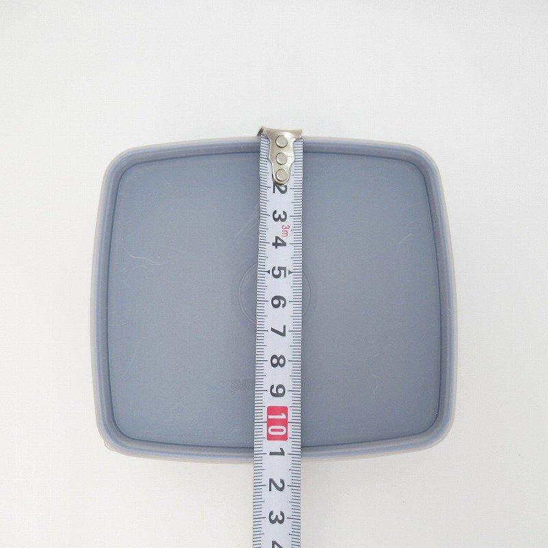 ビンテージ・Tupperware・タッパウェア・ネイビーブルー・長方形【画像11】