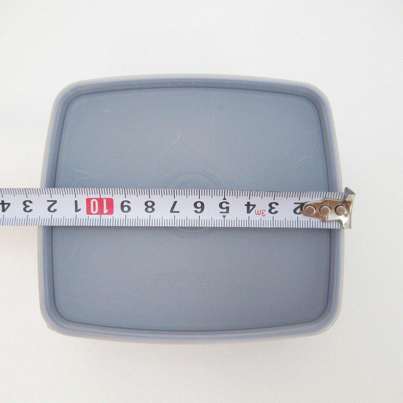 ビンテージ・Tupperware・タッパウェア・ネイビーブルー・長方形【画像12】