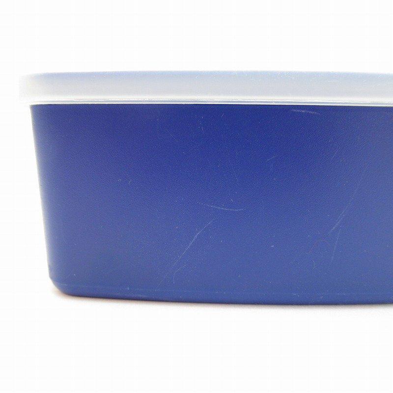 ビンテージ・Tupperware・タッパウェア・ネイビーブルー・長方形【画像3】
