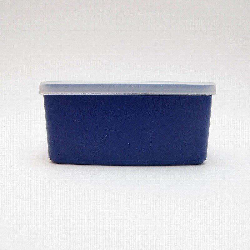 ビンテージ・Tupperware・タッパウェア・ネイビーブルー・長方形【画像4】