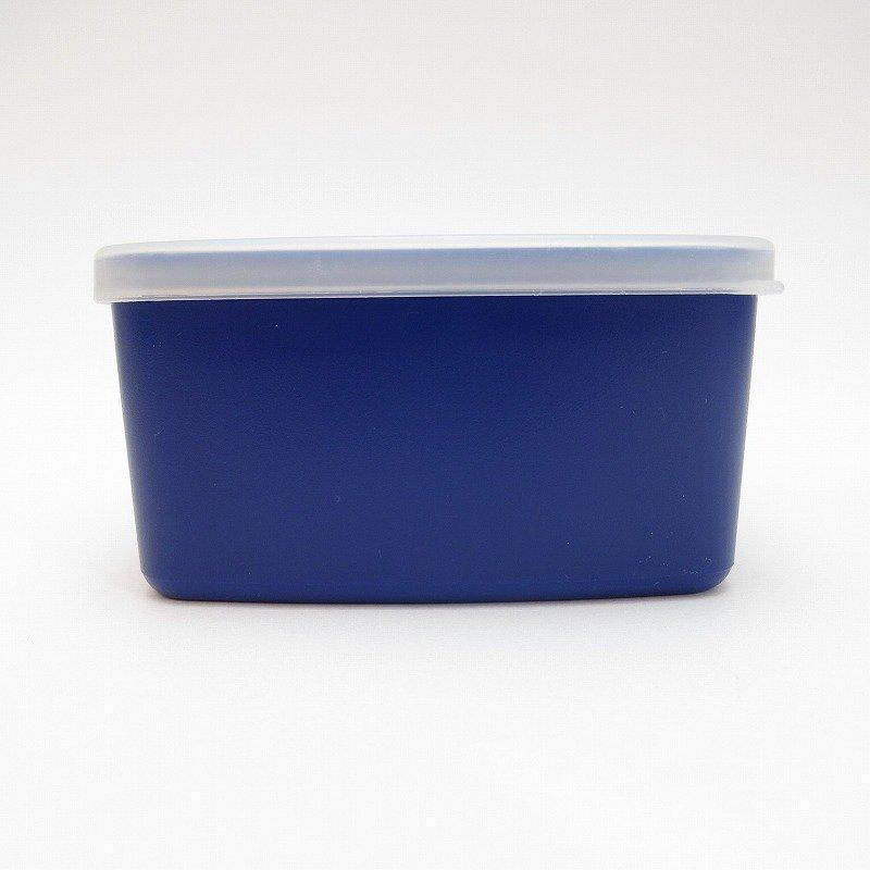ビンテージ・Tupperware・タッパウェア・ネイビーブルー・長方形【画像5】