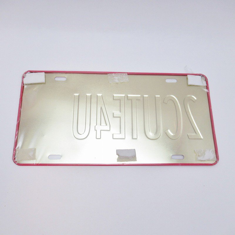 未使用デッドストック・ベティちゃん・2CUTE4U・メタル製ライセンスプレート【画像3】