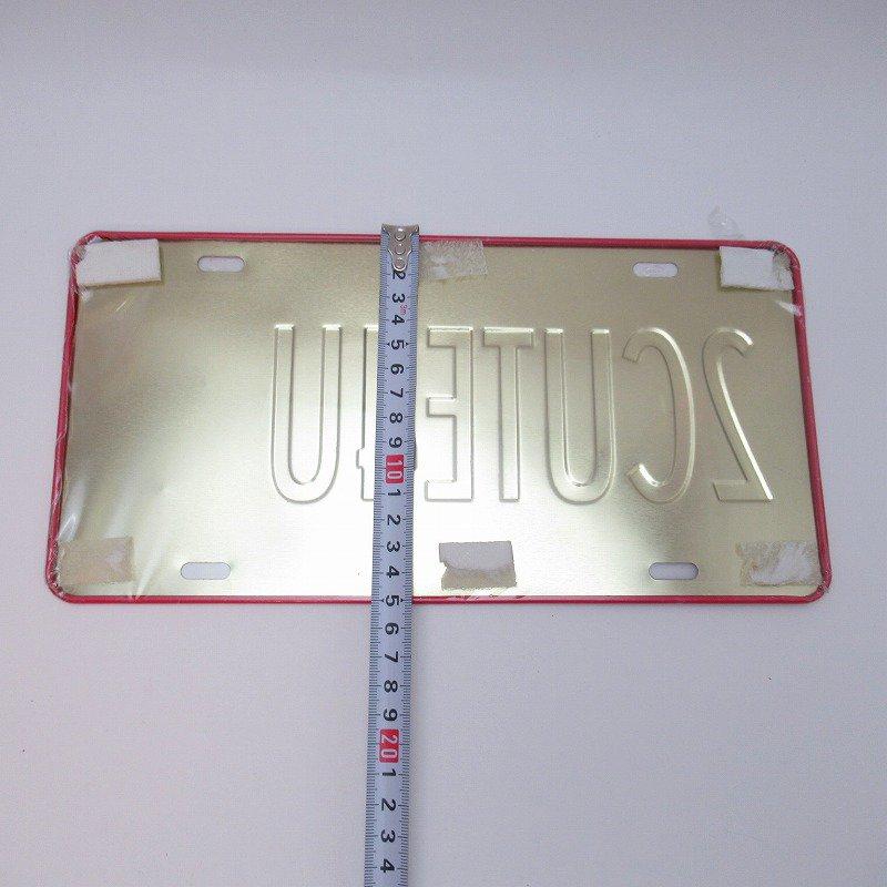 未使用デッドストック・ベティちゃん・2CUTE4U・メタル製ライセンスプレート【画像4】