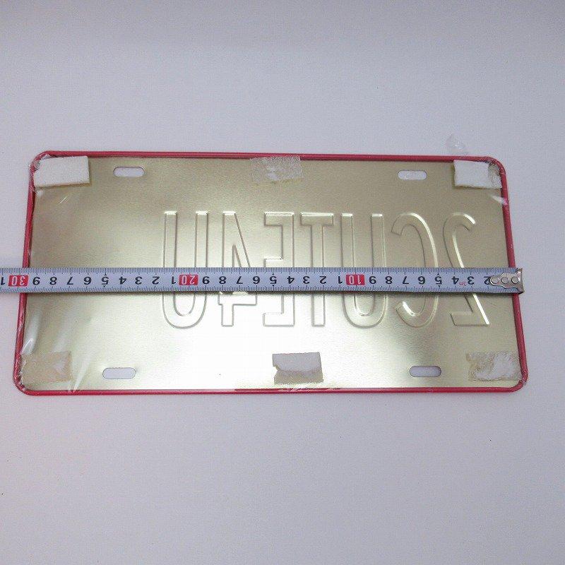 未使用デッドストック・ベティちゃん・2CUTE4U・メタル製ライセンスプレート【画像5】