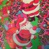 クリスマス ヴィンテージラッピングペーパー・レトロサンタ&ツリー