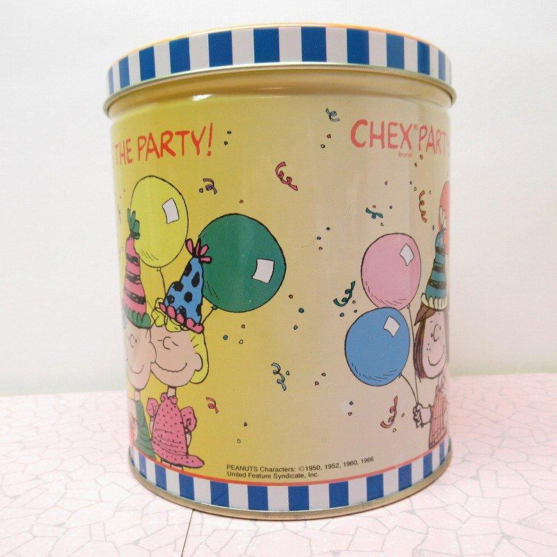 スヌーピーの仲間たちとパーティー Chex Party Mix Makes the Party! ティン缶 A【画像4】