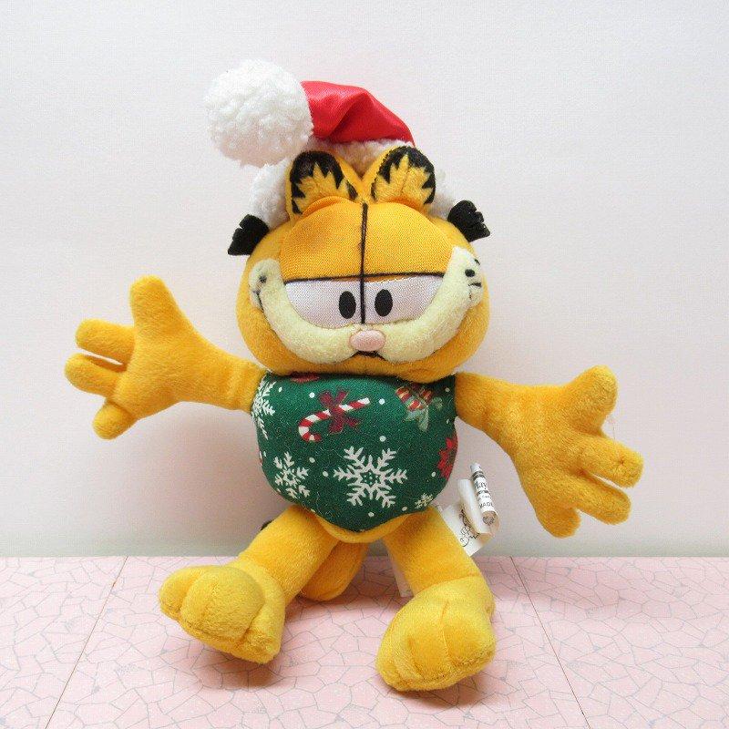 アウトレット・ヴィンテージ・ガーフィールド・クリスマスサンタ・ぬいぐるみ
