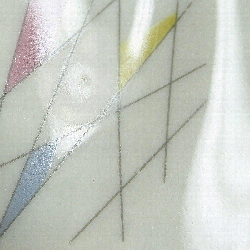 ヴィンテージ・ドイツ製・1949年〜1954年・ババリア・ミッドセンチュリー・アトミックプリント・ケーキディッシュ【B】【画像7】
