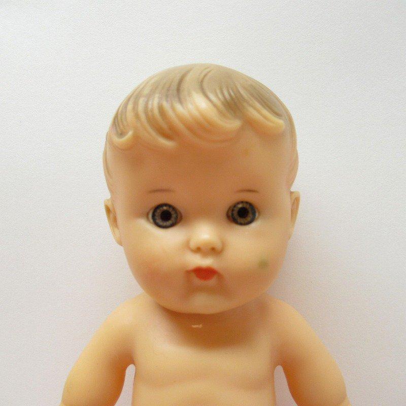 ヴィンテージ・1956年・ソフビドール・Sun Rubber社・サンラバー・女の子のベビーちゃん【画像2】