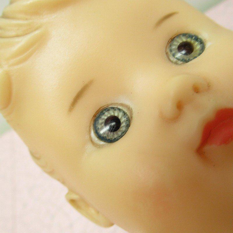 ヴィンテージ・1956年・ソフビドール・Sun Rubber社・サンラバー・女の子のベビーちゃん【画像12】