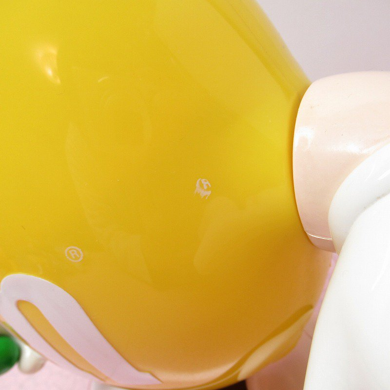 【訳あり】ヴィンテージ・M&Ms・エムアンドエムズ・黄色・ディスペンサー【画像5】