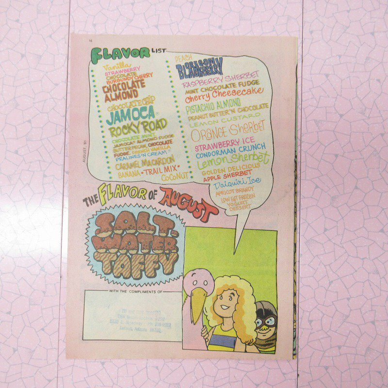 ヴィンテージ・1981年8月号・バスキンロビンス・31アイスクリーム・マガジン【画像4】
