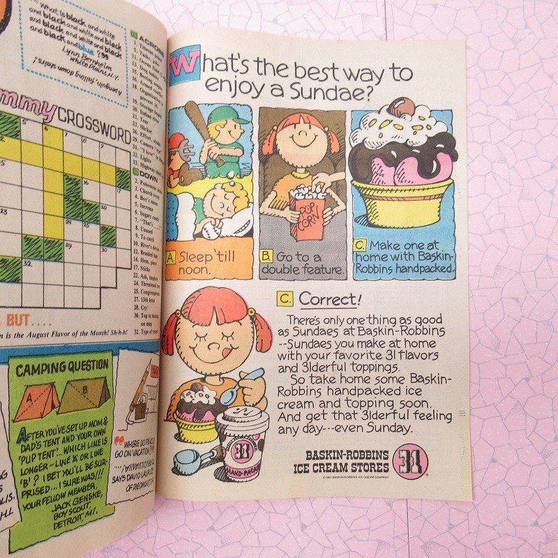 ヴィンテージ・1981年8月号・バスキンロビンス・31アイスクリーム・マガジン【画像9】