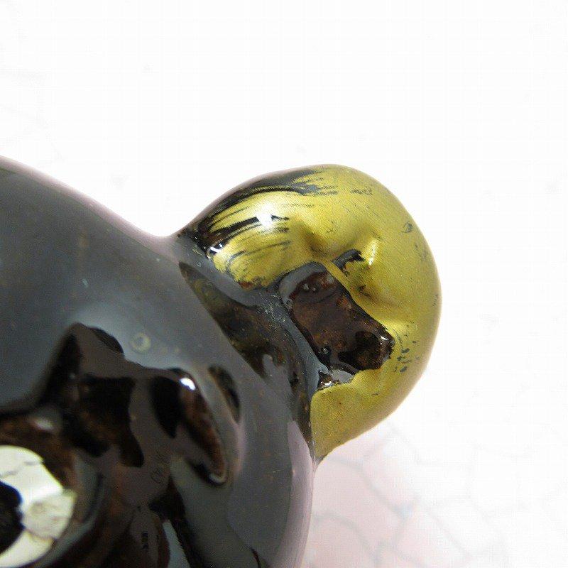 ヴィンテージ・米国輸出用日本製・陶器製・ゴールドリボン・テディベア【画像5】