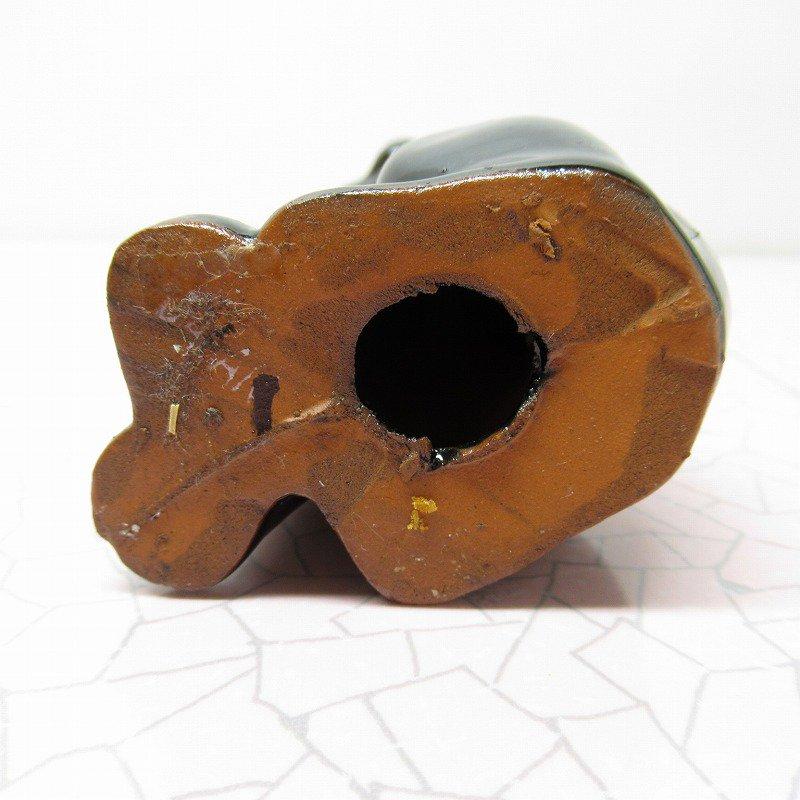 ヴィンテージ・米国輸出用日本製・陶器製・ゴールドリボン・テディベア【画像8】